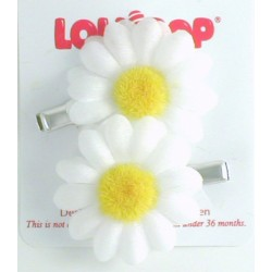 Gift - Hair Croc Clip Daisy - Sparkly - White